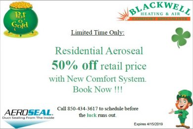 50% off Residential Aeroseal with New Comfort System